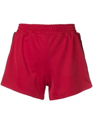 Chiara Ferragni Logomania Side Stripe Shorts Red