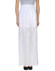 Patrizia Pepe Long Skirts White