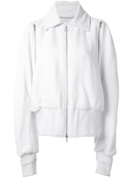 Dion Lee Zip Detail Bomber Jacket White