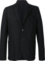 Harris Wharf London Button Blazer Black