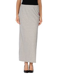 My T Shirt Skirts Long Skirts Women Light Grey