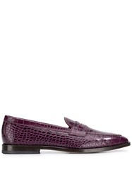 Etro Textured Loafers Purple