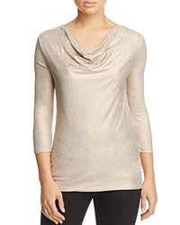 Majestic Filatures Draped Metallic Tee Copper Gris Chine