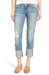 Blank Nyc Women's Blanknyc Lost And Found Cuffed Straight Leg Jeans