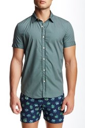 Parke And Ronen Biscayne Printed Short Sleeve Slim Fit Shirt Green