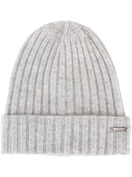 Woolrich Ribbed Beanie Grey
