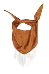 Forever 21 Ettika Faux Suede Scarf Brown