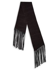 John Varvatos Double Layer Wool Scarf Bordeaux