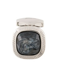 Tateossian Faux Gemstone Embellishment Cufflinks Grey