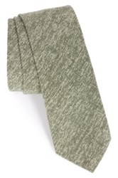 1901 'Pineda' Linen And Cotton Blend Tie Green
