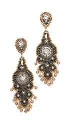 Miguel Ases Harper Earrings Gold Black Multi