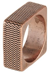 Icon Brand Surface Ring Coppercoloured