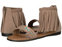 Minnetonka Morocco Taupe Suede Women's Sandals