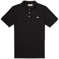 Maison Kitsune Tricolour Fox Polo Black
