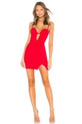By The Way Rosalie Strapless Mini Dress Red