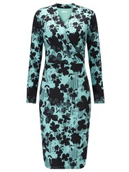 Eastex Linear Floral Jersey Dress Multi Coloured