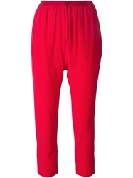 Erika Cavallini Semi Couture Cropped Drop Crotch Trousers Red