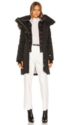 Soia And Kyo Emele Parka With Faux Fur Trim In Black.