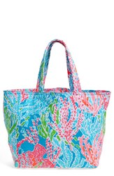 Lilly Pulitzer Canvas Beach Tote Pink Lets Cha Cha