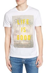 French Connection Men's Life Is Good Graphic T Shirt