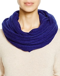 C By Bloomingdale's Open Knit Cashmere Scarf Midnight