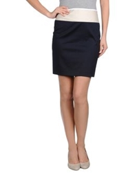 Theory Knee Length Skirts Dark Blue