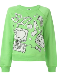 Moschino Cheap And Chic Accessories Print Sweatshirt Green