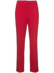 Ralph Lauren Collection High Waisted Straight Trousers Red