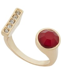 Inc International Concepts Gold Tone Stone And Pave Bar Cuff Ring Only At Macy's
