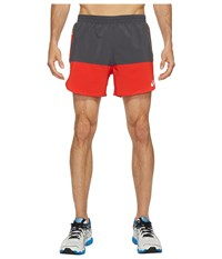 Asics Everyday 5 Shorts Fiery Red Dark Grey Men's Shorts Fiery Red Dark Grey