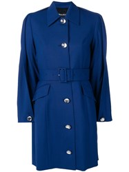 Y Project Folded Detail Trench Coat Blue