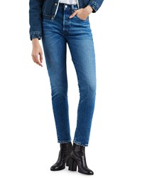 Levi's Premium 501 High Rise Ankle Skinny Jeans Blue