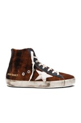 Golden Goose Velvet Francy Sneakers In Ombre And Tie Dye Brown Ombre And Tie Dye Brown