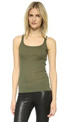 Faith Connexion Ribbed Tank Army Khaki