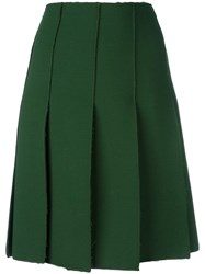 Emilio Pucci Pleated Short Skirt Green
