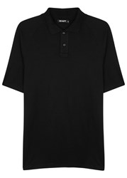 Tiger Of Sweden Sanger Black Stretch Jersey Polo Shirt