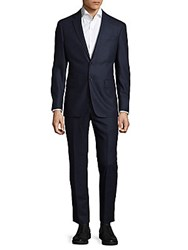 Todd Snyder Notch Buttoned Suit Navy