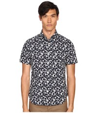 Jack Spade Clift Short Sleeve Splatter Print Shirt Navy