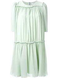 Chloe Chloe Pleated Flared Dress Green