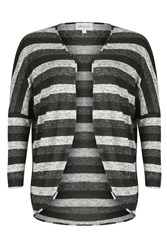 Threads Plus Size Cocoon Cardigan Black