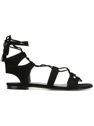 Stuart Weitzman Gladiator Sandals Black