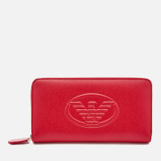 Emporio Armani Women's Zip Around Wallet Red