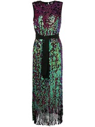 Manoush Tie Waist Sequin Dress Black
