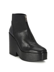 Ld Tuttle The Iron Leather Platform Booties Black