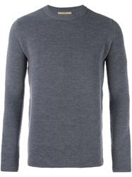 Nuur Ribbed Crew Neck Jumper Grey