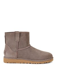 Ugg Classic Unlined Mini Perforated Booties Mole