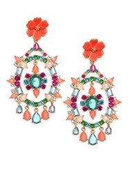 Kate Spade Garden Party Crystal Chandelier Earrings Multi