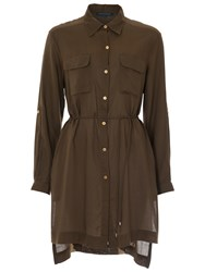 French Connection Casual Button Through Shirt Dress Turtle