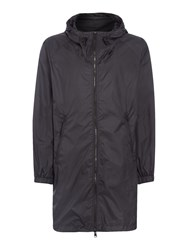 Replay Men's Long Hooded Jacket Black