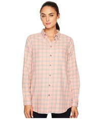 Fjall Raven High Coast Flannel Shirt Lily Fog Women's Long Sleeve Button Up Orange